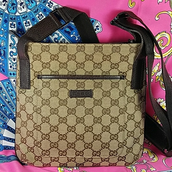 5cd755fe2f1e Gucci Bags   Authentic Gg Monogram Crossbody Bag   Poshmark